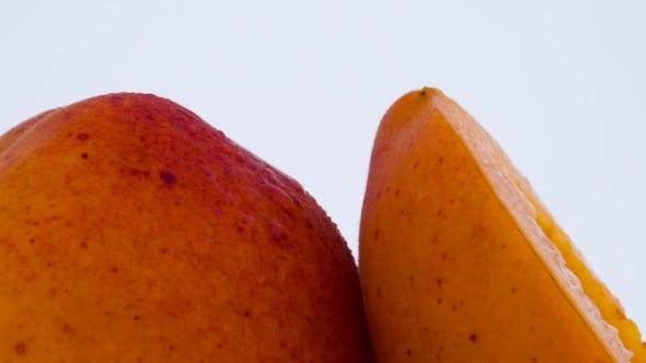 Thumbnail for One Whole and One Half of Apricot Fruit
