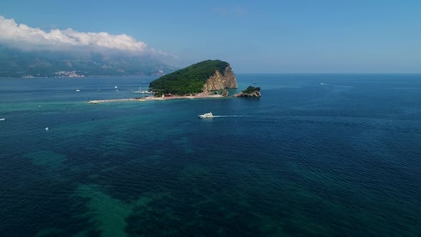 Thumbnail for Aerial View of a Beach Island in the Adriatic Sea