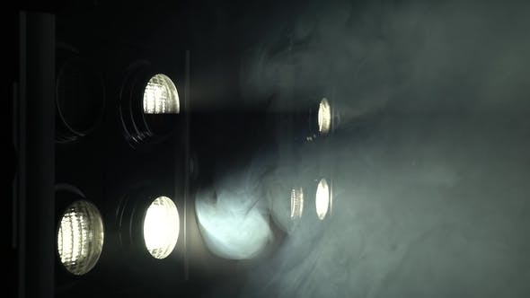 Thumbnail for Stage Lights , Floodlights Shining Brightly and Turning on and Off