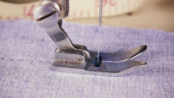 Thumbnail for The Needle of the Sewing Machine Makes Stitches