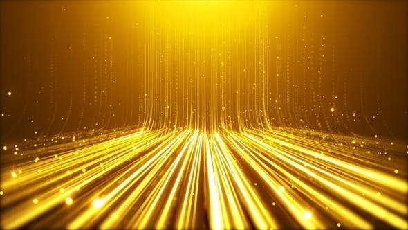 Thumbnail for Gold Particals Flow Background