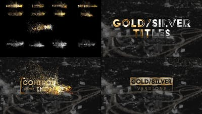 Golden Titles  for Premiere Pro & After Effects