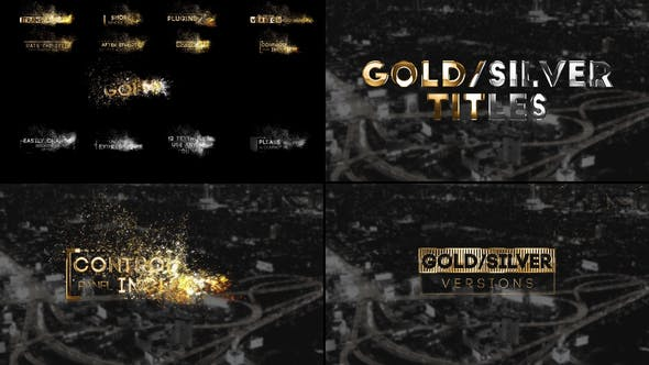 Thumbnail for Golden Titles  for Premiere Pro & After Effects