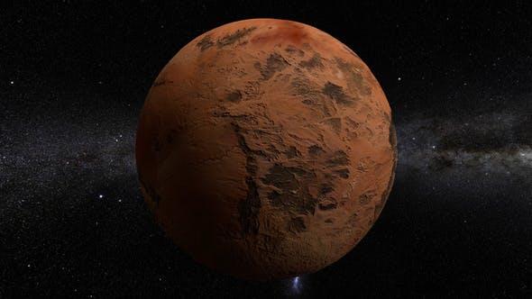 Thumbnail for Dark Valley Planet 360 Rotation Seamless Loop