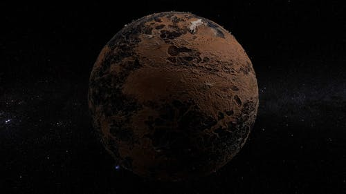 Eroded Planet 360 Rotation Seamless Loop