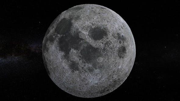 Thumbnail for Moon 360 Rotation Seamless Loop