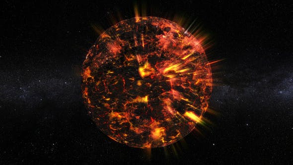 Thumbnail for Neutron Star 360 Rotation Seamless Loop