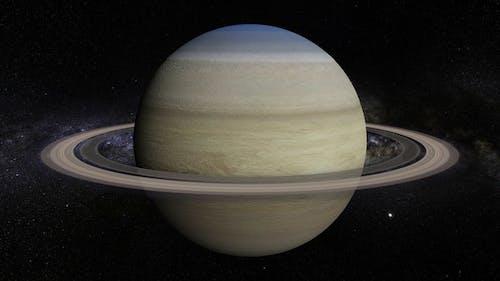Saturn 360 Rotation Seamless Loop