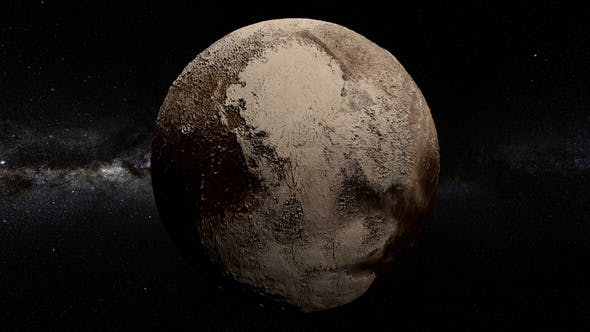 Thumbnail for Pluto 360 Rotation Seamless Loop