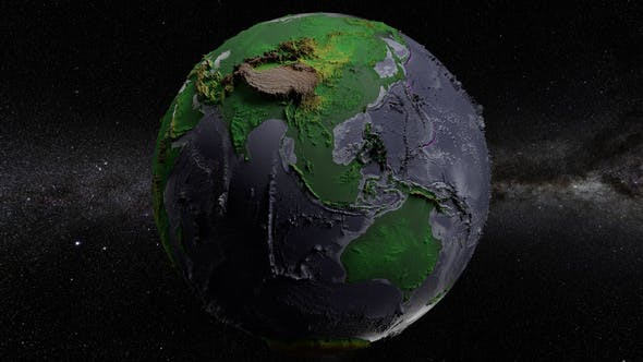 Thumbnail for Green Earth Elevated 360 Rotation Seamless Loop