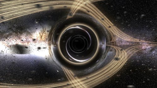 Blackhole Orbit with Accretion Disk Asteroids Seamless Loop