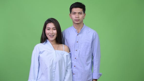 Thumbnail for Young Asian Business Couple Together