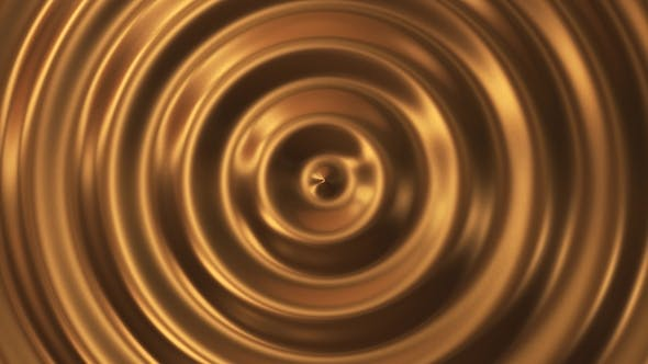 Thumbnail for Abstract Loop Ripple Gold 3d Wave