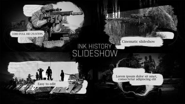 Thumbnail for Presentación de diapositivas del historial de Tinta