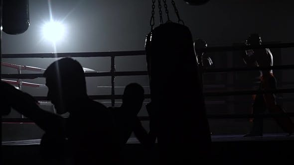 Kickboxers Preparing for Competitions