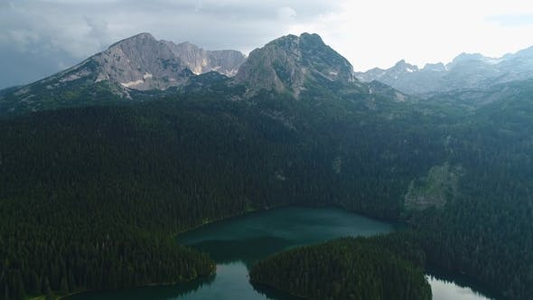 Thumbnail for Aerial View at a Beautiful Lake in the Mountains