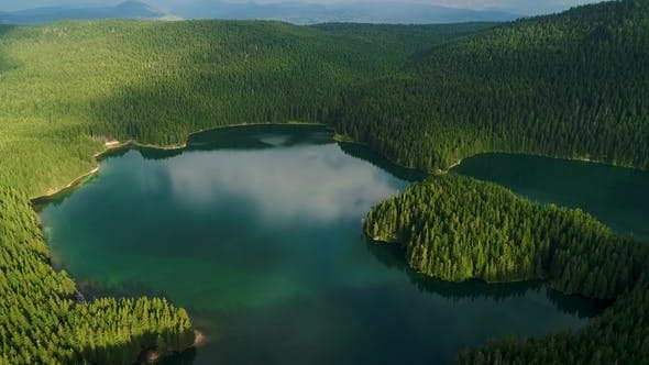 Thumbnail for Aerial View at a Beautiful Lake in the Mountains. Black Lake, Montenegro.