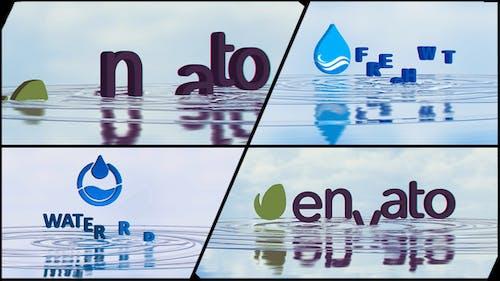 Corporate Logo V21 Water Ripples Emerge