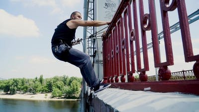 Guy on the Bridge with the Insurance