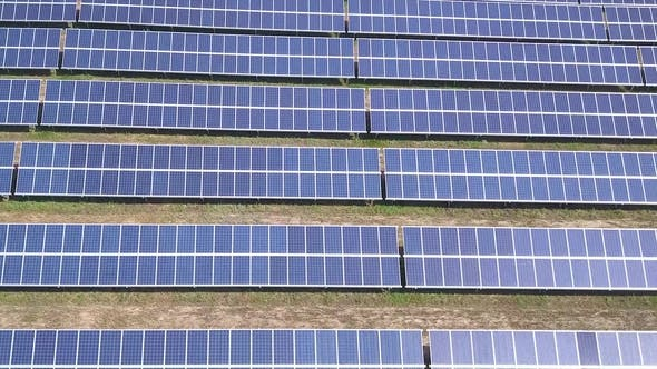 Thumbnail for Flying Over the Solar Power Plant with Sun Solar Panels and Sun