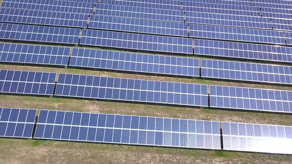 Thumbnail for Aerial View of Solar Panels From the Drone