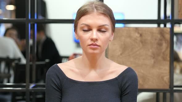Portrait Of Young Woman, Indoor