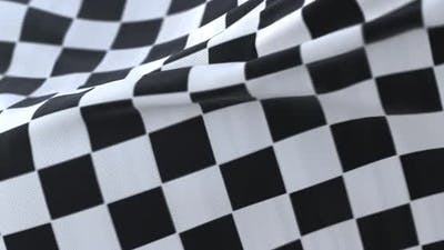 Race Flag Waving