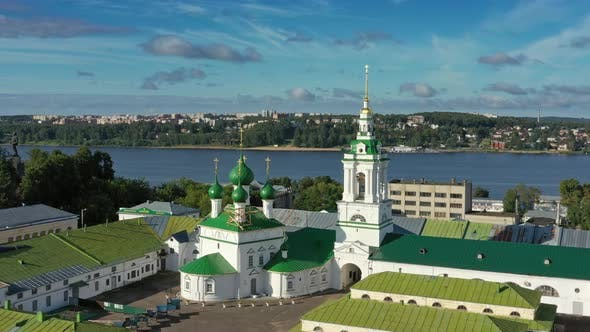 Thumbnail for Aerial View of Ancient Gostiny Dvor in Kostroma