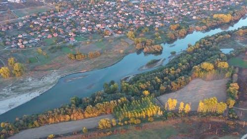 Aerial View Of Maritsa River In Bulgaria 3