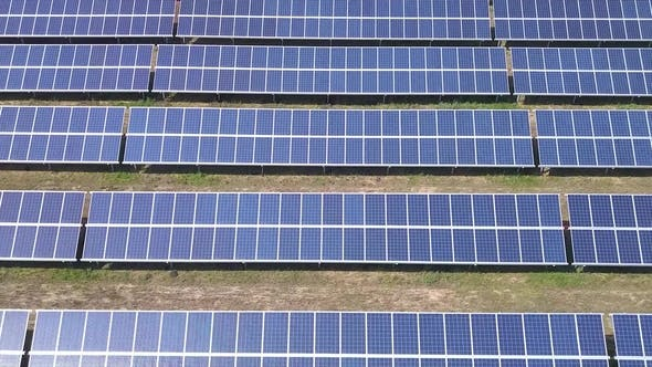 Thumbnail for Aerial Industrial View Solar Panels