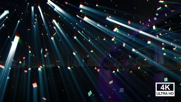 Lichtstrahlen fallen 4K