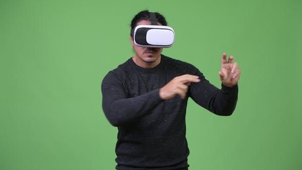 Thumbnail for Handsome Man Using Virtual Reality Headset