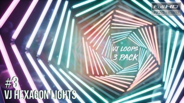 Thumbnail for VJ Hexagon Lights Ver.3 - 3 Pack