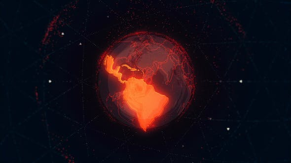 Thumbnail for Latin America Maps on the Rotating Red Earth 4K