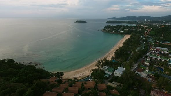 Thumbnail for Aerial View of Empty Sea Beach at Summer Day
