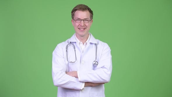 Thumbnail for Confident Man Doctor Smiling