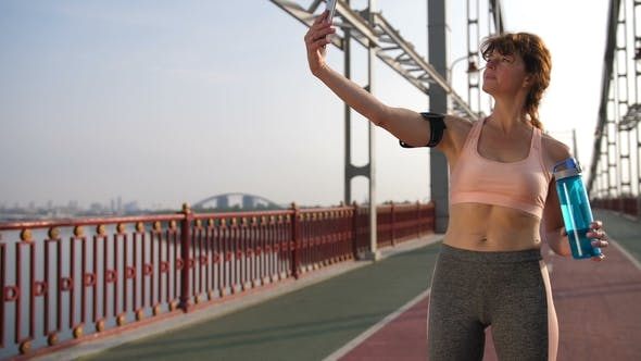 Thumbnail for Smartphone Self-portrait of Senior Female Runner