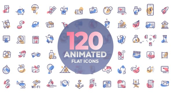 120 Icones animées