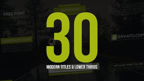 30 Modern Titles & Lower Thirds
