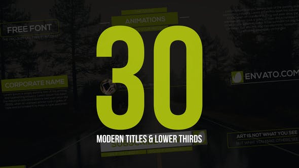 Thumbnail for 30 Modern Titles & Lower Thirds