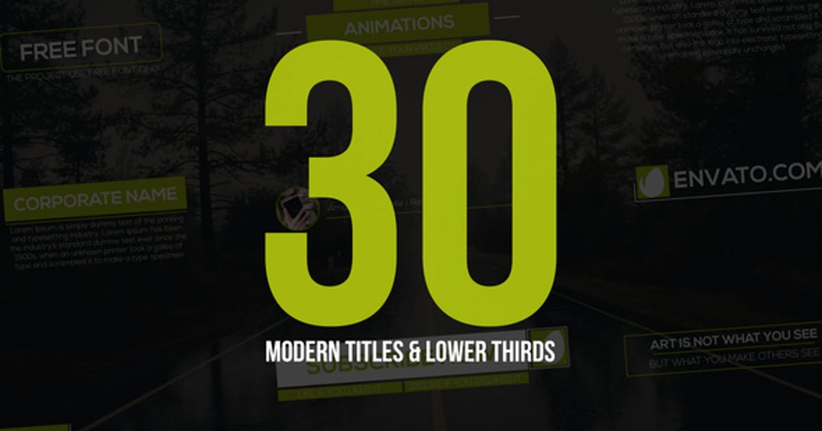 Download 30 Modern Titles & Lower Thirds by MbrEffects