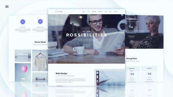Thumbnail for Modern Website Promo