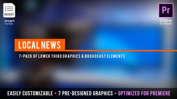 Thumbnail for Local News Broadcast | MOGRT for Premiere Pro
