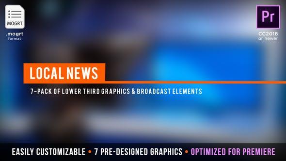 Трансляция местных новостей | MOGRT для Premiere Pro