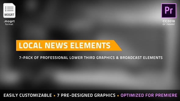 Thumbnail for Local News Elements | MOGRT for Premiere Pro