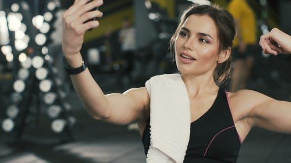 Thumbnail for Pretty Brunette Girl at Gym