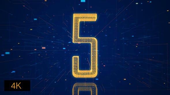 Thumbnail for Hi-Tech Digital Space Countdown 4K