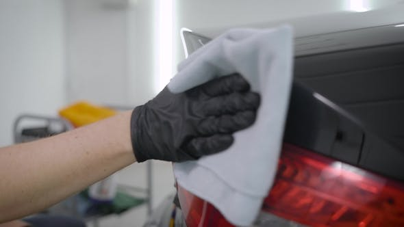 Thumbnail for Master in a Car Washing Station Finishing Cleaning Car