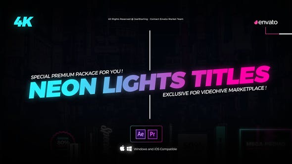 Thumbnail for Neon Lights Titles 4K