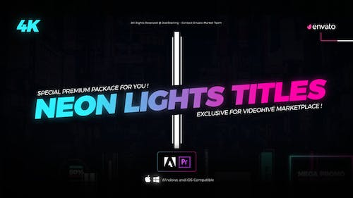 Neon Light Titles for Premiere